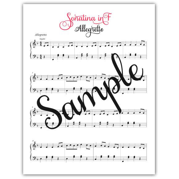 Sonatina in F sample