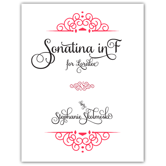 Sonatina in F by Stephanie Skolmoski