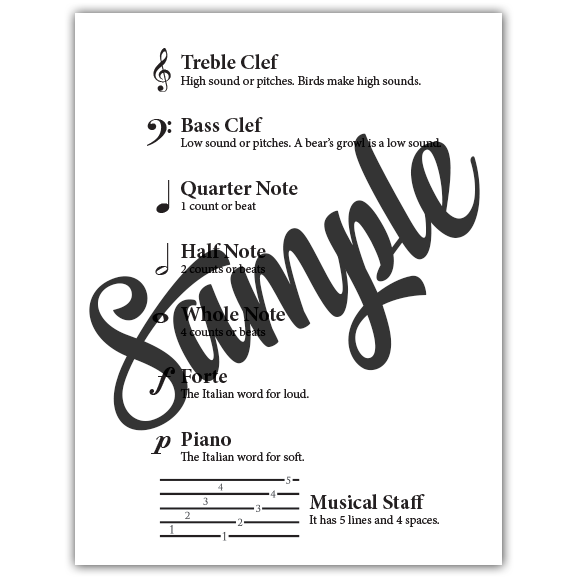 Beginning Musical Notation Packet