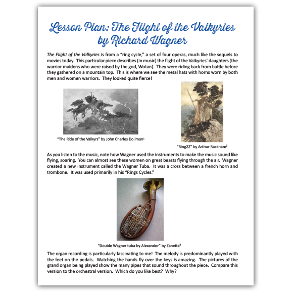 The Flight of the Valkyries Lesson Plan