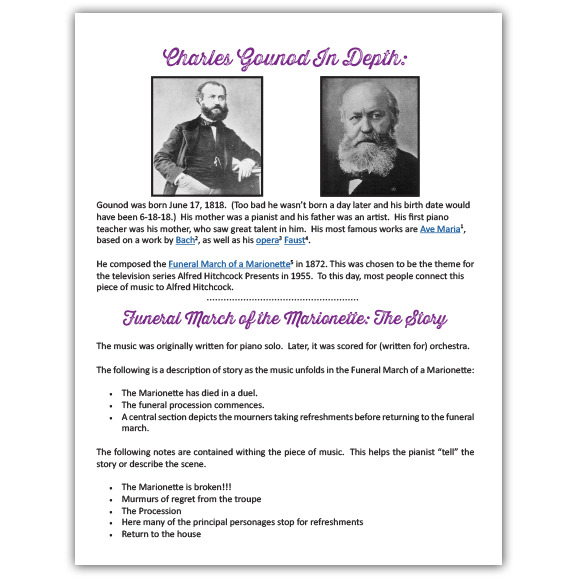 Funeral March of the Marionette Lesson Plan