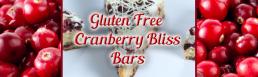 Gluten Free Cranberry Bliss Bars